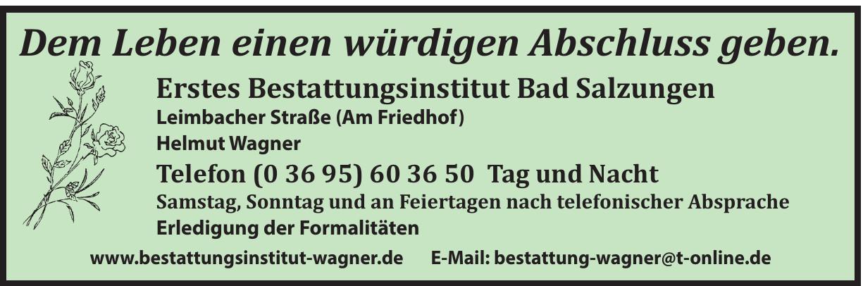 Helmut Wagner GbR - Erstes Bestattungsinstitut