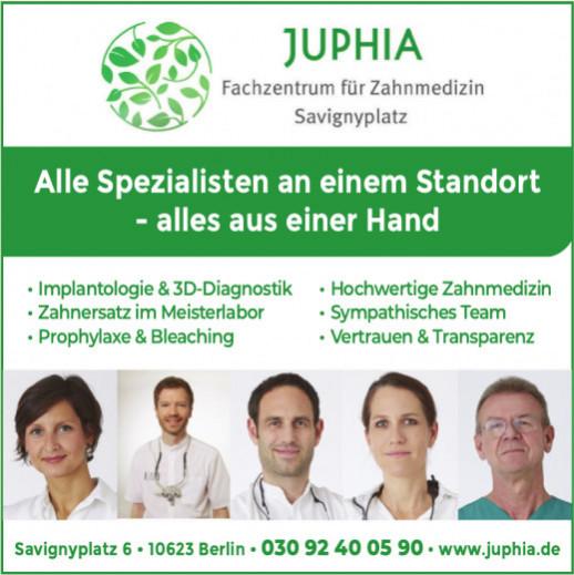 Juphia, Fachzentrum für Zahnmedizin Savignyplatz