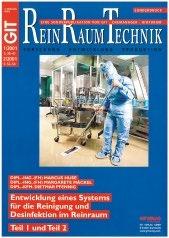 Abb. 4: Cover der ersten Veröffentlichung der Pfennig Reinigungstechnik GmbH in der ReinraumTechnik, 2001