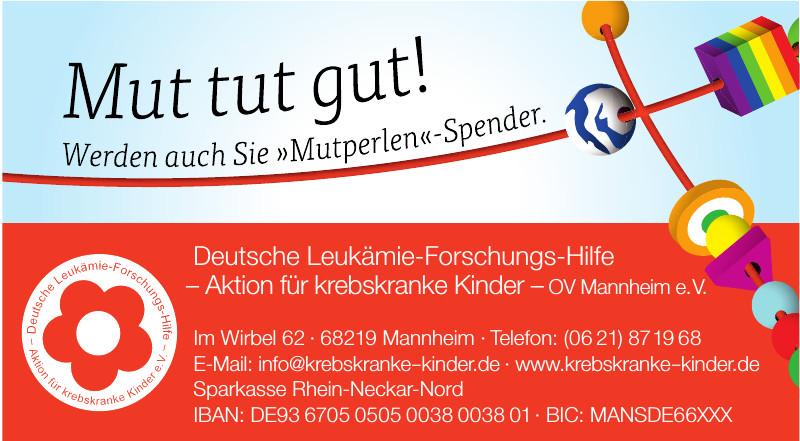 Deutsche Leukämie-Forschungs-Hilfe – Aktion für krebskranke Kinder – OV Mannheim e.V.