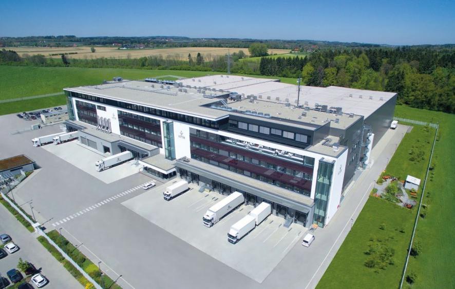 """Die ausgezeichnete """"Facility of the Future"""" Ravensburg Vetter West: das Zentrum für Optische Kontrolle und Logistik von Vetter in Ravensburg. © Vetter Pharma International GmbH"""