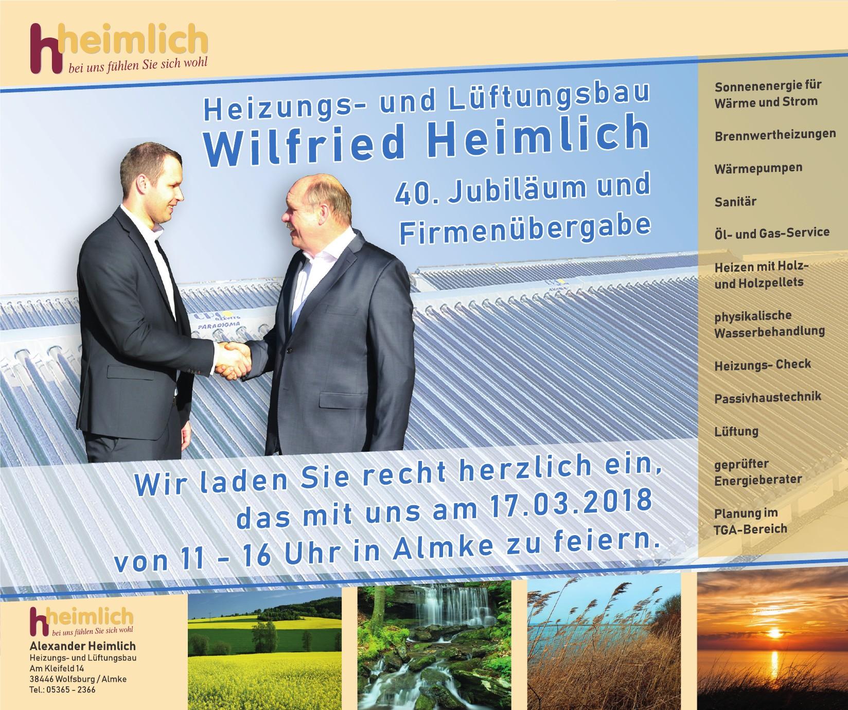 Heizung- und Lüftungsbau Wilfried Heimlich