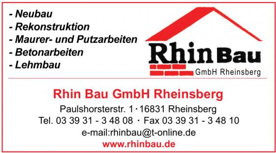 Rhin Bau GmbH Rheinsberg