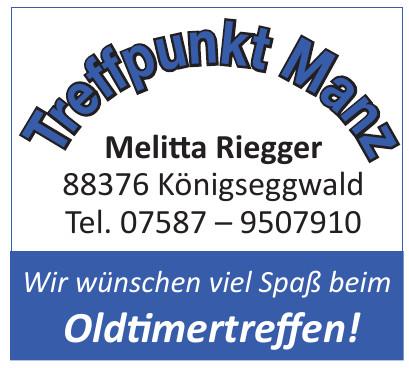 Treffpunkt Manz Melitta Riegger