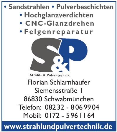 S&P Strahl-Pulvertechnik Florian Schlarnhaufer