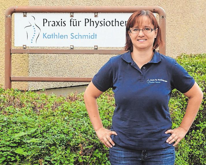 Hat sich einen Traum erfüllt: Kathlen Schmidt eröffnet ihre eigene Physiotherapie-Praxis. Fotos (3): Dirk Lehmpuhl-Ponta