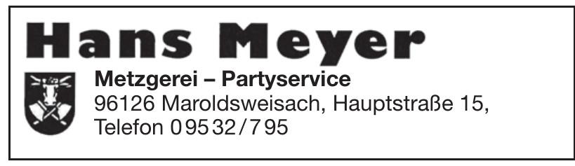 Hans Meyer Metzgerei-Partyservice