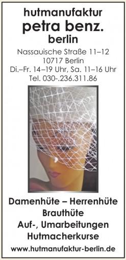 hutmanufaktur petra benz. berlin