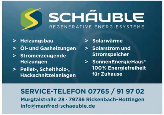 Schäuble Regenerative Energiesysteme