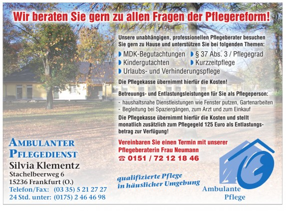 Ambulanter Pflegedienst Silvia Klementz