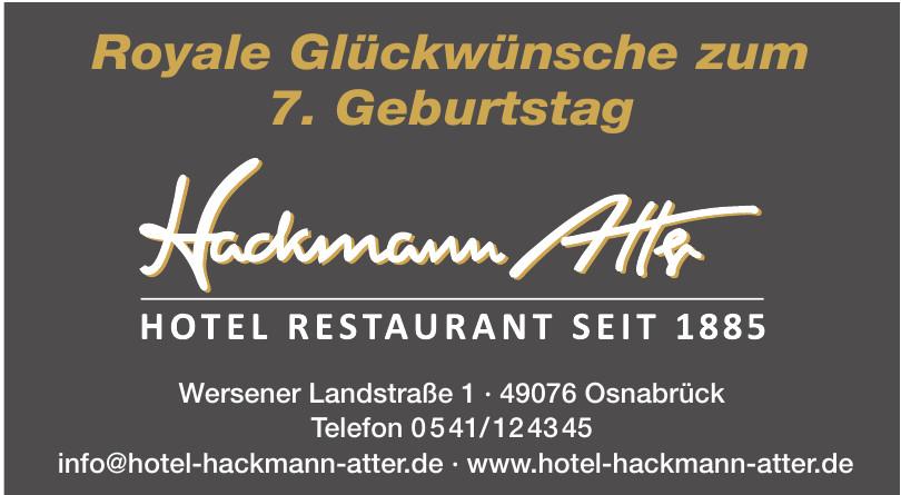 Hackmann Atter Hotel Restaurant