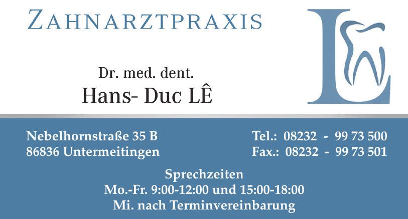 Zahnarztpraxis Dr. med dent. Hans- Duc LE
