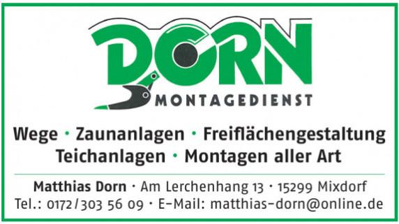 Matthias Dorn Montagedienst