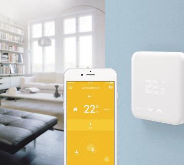 Die Temperatur immer im Blick: Mit smarten Thermostaten können die Energiekosten ganz einfach gesenkt werden. Foto: djd/E.ON/tado°