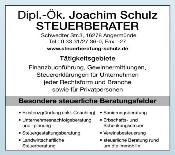 Dipl.-Ök. Joachim Schulz Steuerberater