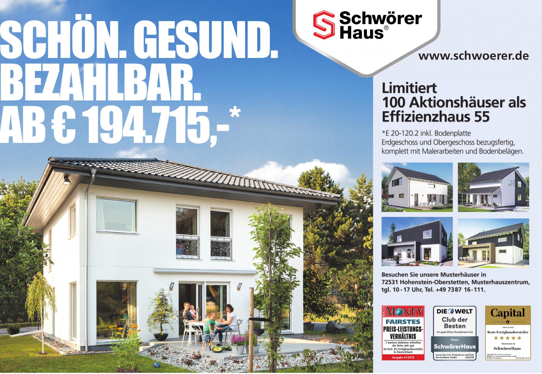"""Ratgeber """"Gesünder Bauen und Wohnen"""" von Schwörer Haus"""