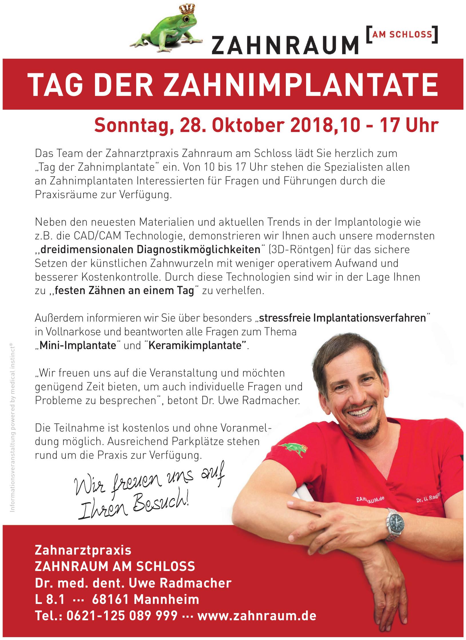Zahnraum am Schloß  Dr. Uwe Radmacher