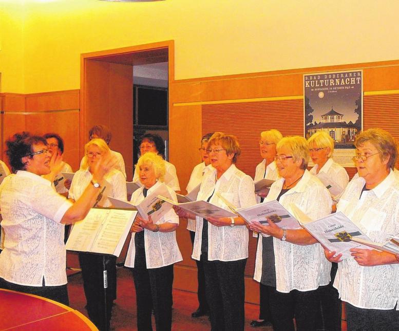 Der Chor Hohenfelde singt zur Kulturnacht.