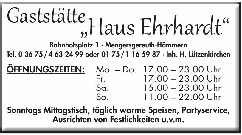 """Gaststätte """"Haus Ehrhardt"""""""