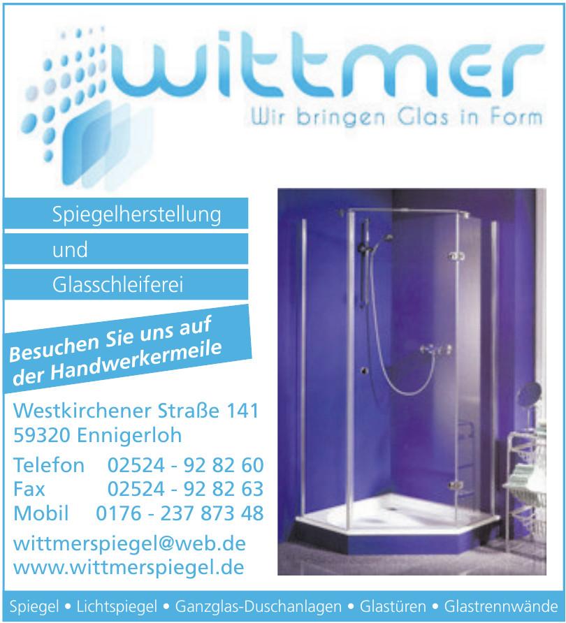 Wittmer Spiegel & Glas