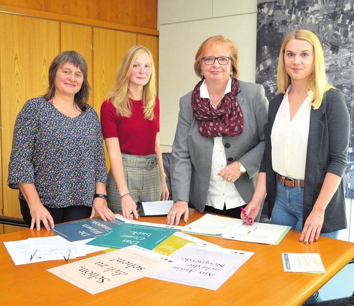 Bettina Klim, Britta Steinkamp, Beate Ebeling und Franziska Pönitzsch (von links) stellten das Projekt vor.