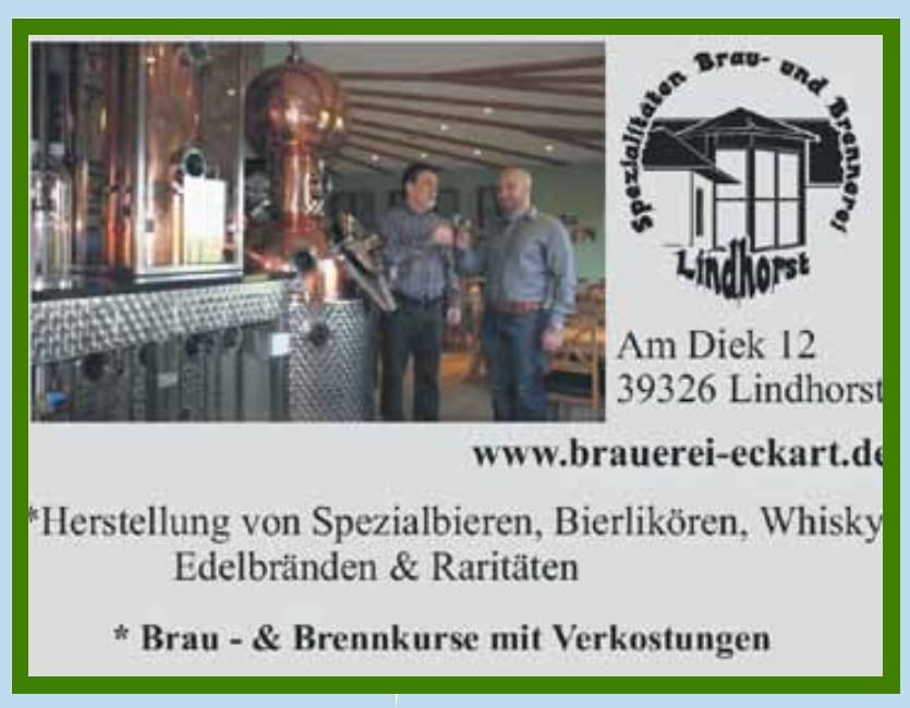 Spezialitäten Brau- & Brennerei Eckart