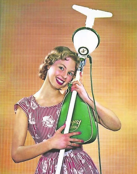 In den 50er Jahren erschien der Kobold erstmals im grün-weißen Design – und avancierte so zu einem der beliebtesten Helfer in Deutschlands Haushalten. Der Ausgangspunkt war ein Grammophon-Motor.Foto: Vorwerk