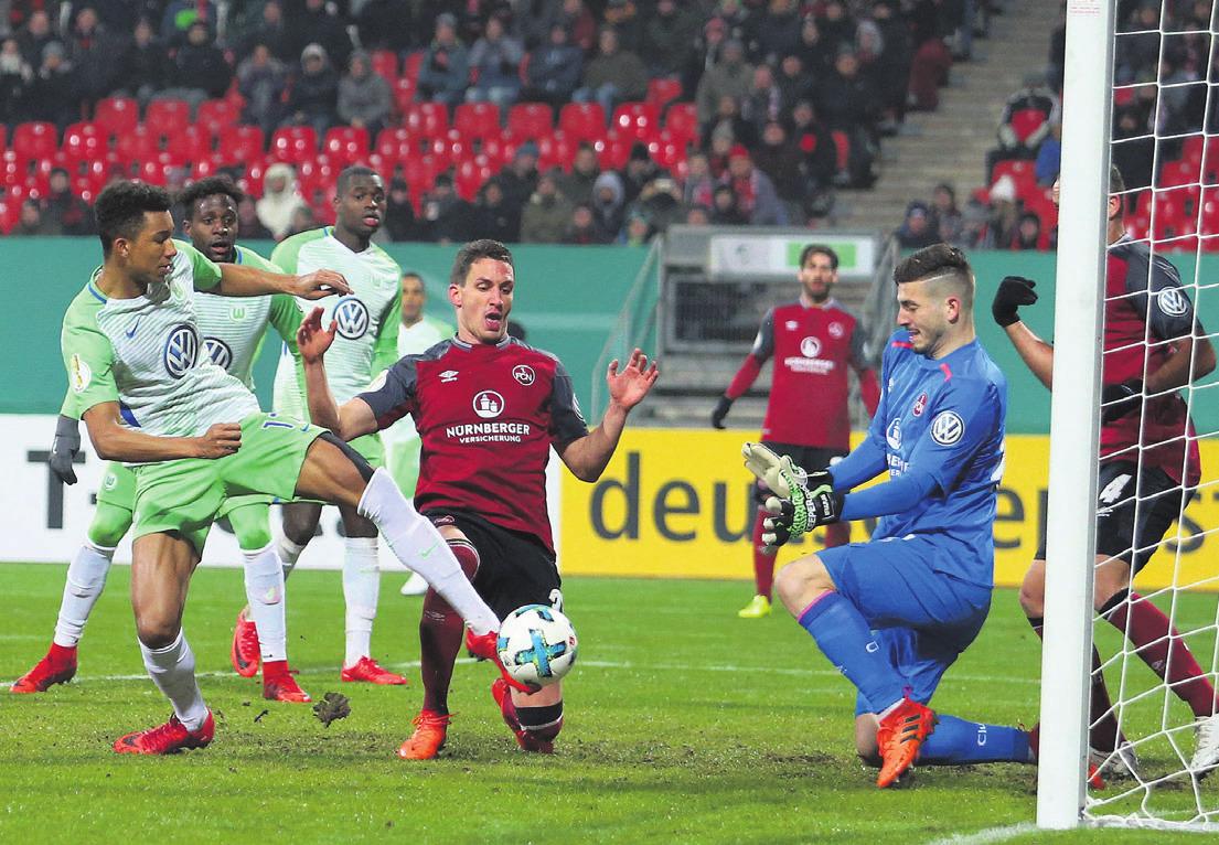 Felix Uduokhai erzielt in der Verlängerung das Tor zum 1:0. Nach kurzer Winterpause reist der VfL Wolfsburg ins Trainingslager nach Marbella. Das nächste Liga-Spiel findet am 14. Januar bei Borussia Dortmund statt.Foto: regios24