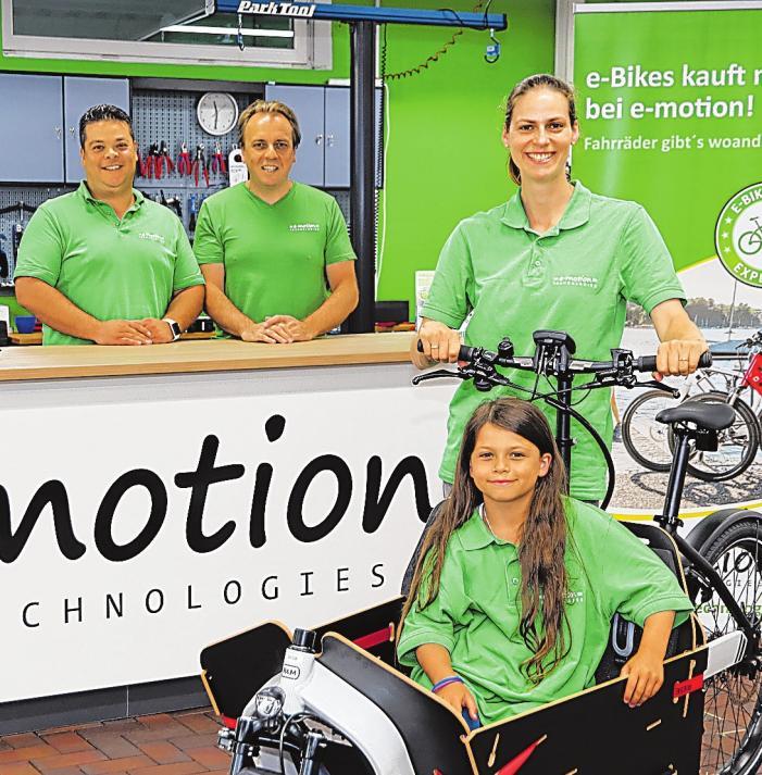 Das Team von e-motion Matthias Tajon, Christina Linke und Thomas Bremer-Jensen (v.li.). FOTO: HFR