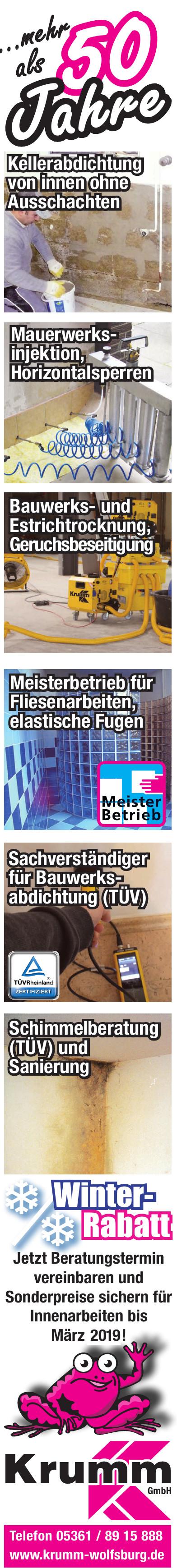 Krumm GmbH - Abdichtungen & Sanierungen