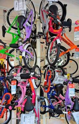 Neu ist eine Abteilung mit Kinderrädern