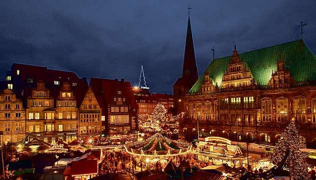 Auch der Bremer Weihnachtsmarkt gehört zu den Zielen von Möller's Reisedienst. FOTO: BREMER TOURISMUS ZENTRALE