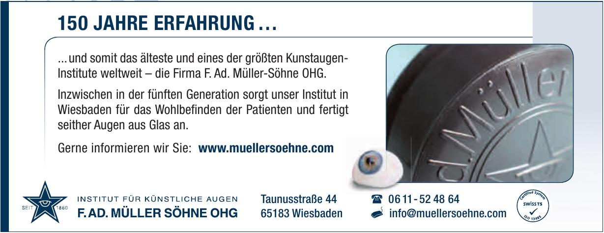 Institut für künstliche Augen F.AD. Müller Söhne OHG