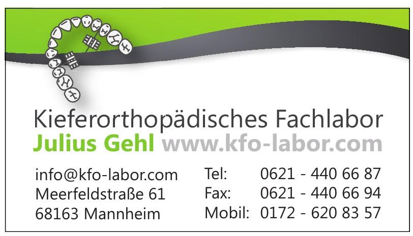Kieferorthopädisches Fachlabor - Julius Gehl