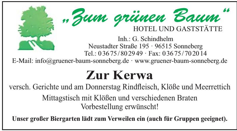 """""""Zum grünen Baum"""" Hotel und Gaststätte"""