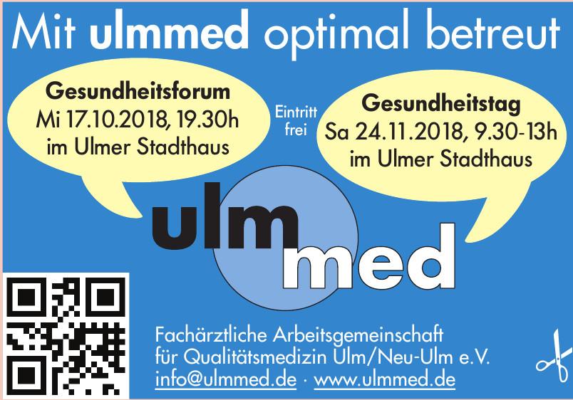 ulmmed Fachärztliche Arbeitsgemeinschaft für Qualitätsmedizin Ulm/Neu-Ulm e.V.