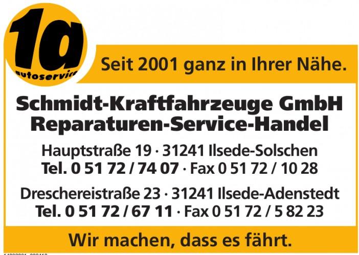 Schmidt-Kraftfahrzeuge GmbH Reparaturen-Service-Handel