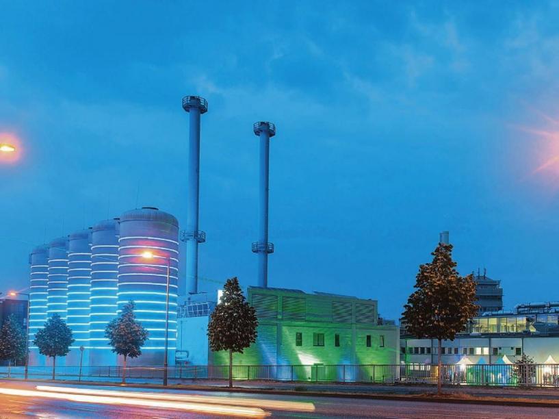 Auffällige energiezentrale in Adlershof: Die BTB versorgt mit modernster Technik viele Einrichtungen in der Wissenschaftsstadt