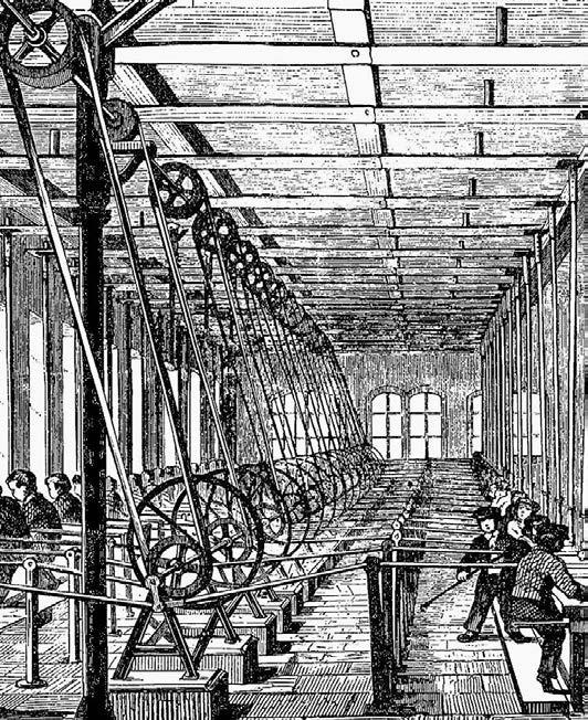 Kinderarbeit war im 19. Jahrhundert weit verbreitet – wie hier eine Darstellung von 1858 aus einer Buntpapierfabrik.Foto: dpa
