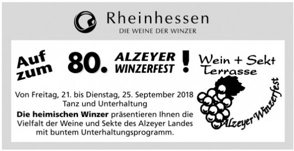 80. Alzeyer Winzerfest