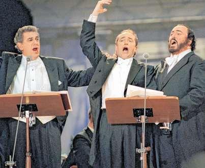 Placido Domingo, José Carreras und Luciano Pavarotti 1996 PA/DPA