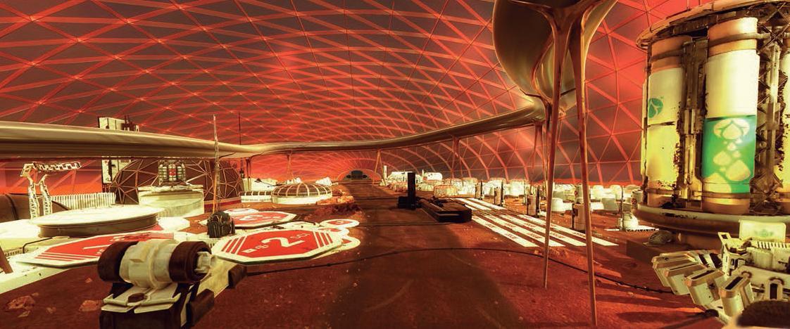 Leben auf dem Mars: So könnte die Stadt aussehen, die die Vereinigten Arabischen Emirate (VAE) auf dem Roten Planeten errichten wollen.Foto: Government Dubai, Media office
