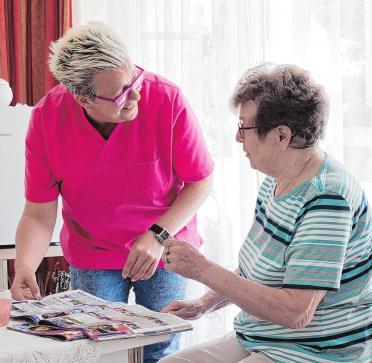 Beständigkeit in der Betreuung und Pflege steht für das Pflegeteam an erster Stelle. Foto: Nachbarschaftspflege Wittstock GmbH