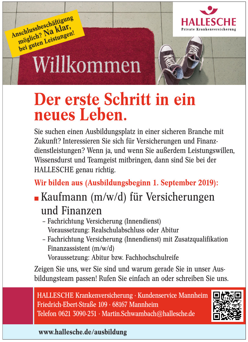 Hallesche Krankenversicherung · Kundenservice Mannheim