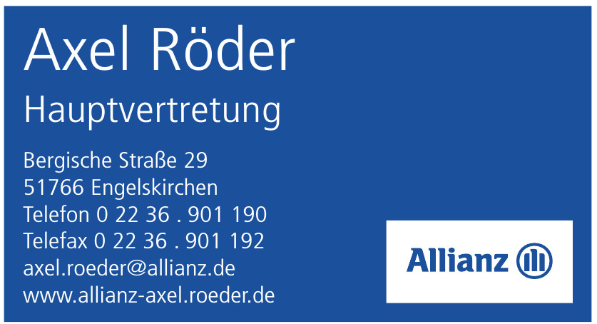 Axel Röder - Allianz