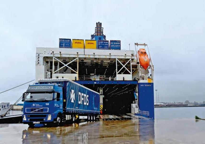 On the more than 50 ships of the DFDS fleet, the trailers of the Group's own Logistics Services division are regular customers.