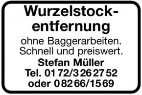 Wurzelstockentfernung - Stefan Müller
