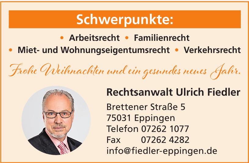 Rechtsanwalt Ulrich Fiedler