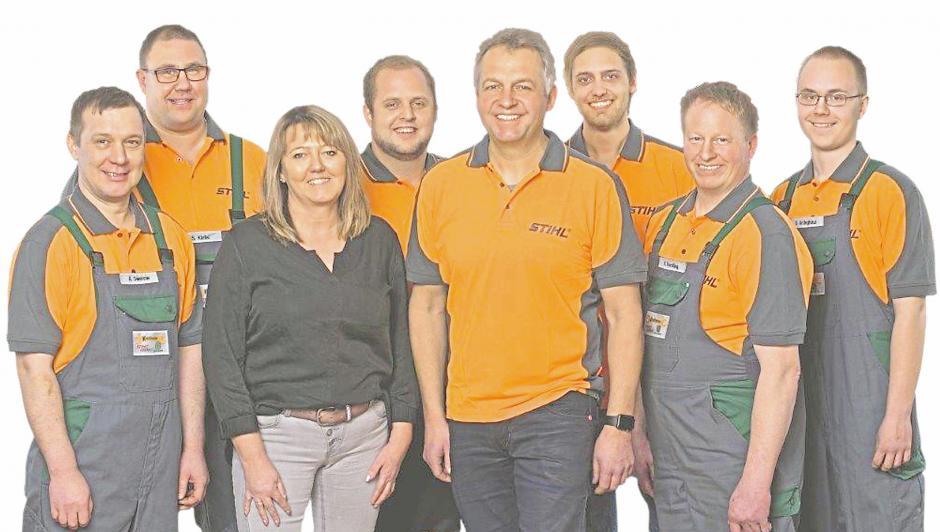 Das Team der Firma Kneilmann ist Experte für Garten- und Landmaschinentechnik. Foto: Kneilmann