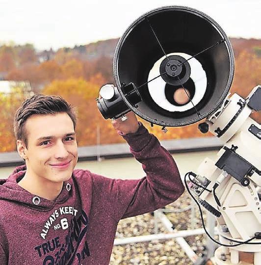 Tobias Gerbracht hat neben der Schule an verschiedenen Erfindungen gearbeitet und mehrere Preise damit gewonnen. Archiv-Foto: Stefan Fries
